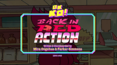 Back in Red Action Titlecard