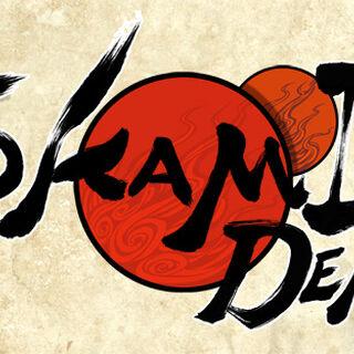 The North American <i>Ōkamiden</i> logo.