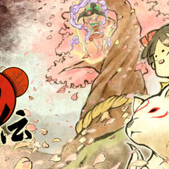 Promotional artwork for Ōkamiden featuring Kuni.