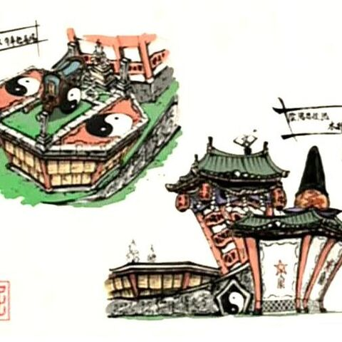 Artwork of the Tao Troopers' headquarter.