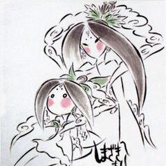 Sakuya with her younger self.