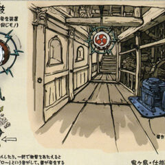 Concept art of the dungeon's interior.