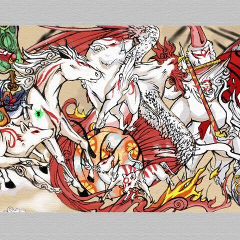 The Brush Gods from <i>Ōkami</i>.