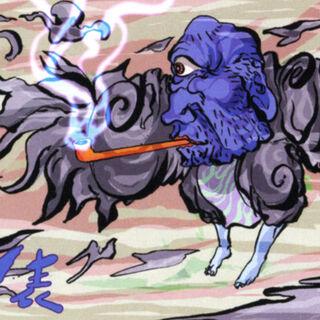 Artwork of a Blue Cyclops.