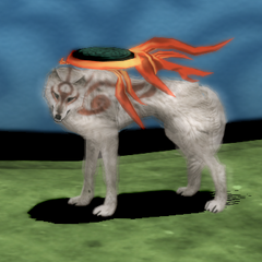 Realistic 3D render Amaterasu.
