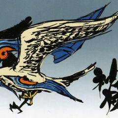 Early concept art of Amaterasu as a falcon.