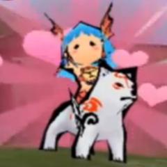 Nanami and Chibiterasu team up.
