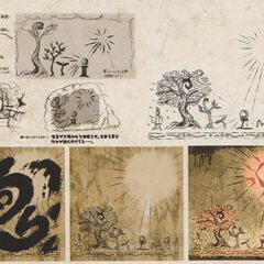 Hana Valley's cave drawings concept art