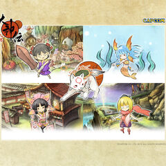 Promotional art showing the partner characters.