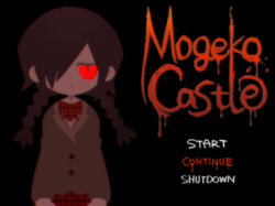 Mogeko castle title screen