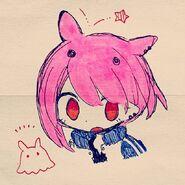 Pink hair blue jacket girl instagram