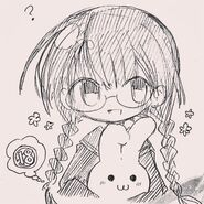 Girl with bunny instagram
