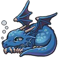 Lazy Dragon (blue)