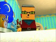 Baxter Bevel rises in Olie Polie's room