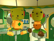 The cosmic face of Olie Polie and Billy Bevel