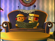 Olie Polie and Billy Bevel in glasses