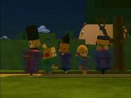 Chunk Squarey, Billy Bevel, Bonita Bevel, Baxter Bevel and Olie Polie