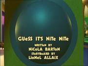 Guess it's nite nite