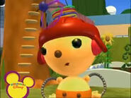 Olie Polie in a red hat