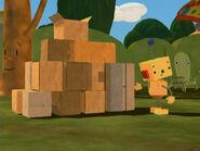 Pyramid of boxes