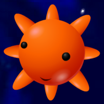 Orange Planet with 8 Points.png