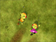 Olie Polie and Zowie Polie on the grass