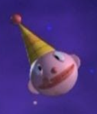 Clown Head Planet with Party Hat