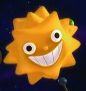 Sunstar's really smiling with her teeth