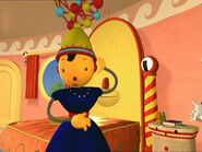Polina in an unusual cap