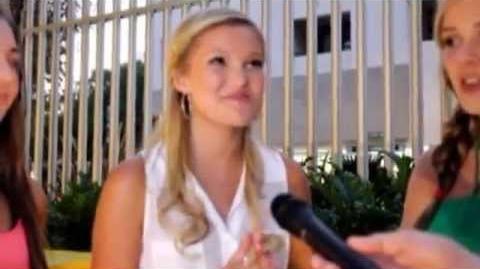 Olivia Holt star of Kickin It at Caitlin Beadles 18th Birthday Party