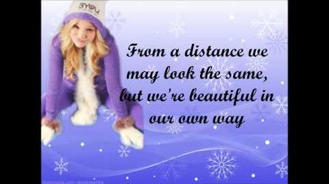 Olivia Holt - Snowflakes lyrics video full song-2