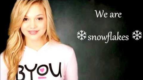 Olivia Holt - Snowflakes (lyrics)