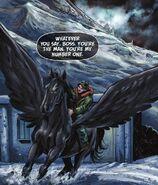 Percy riding Blackjack