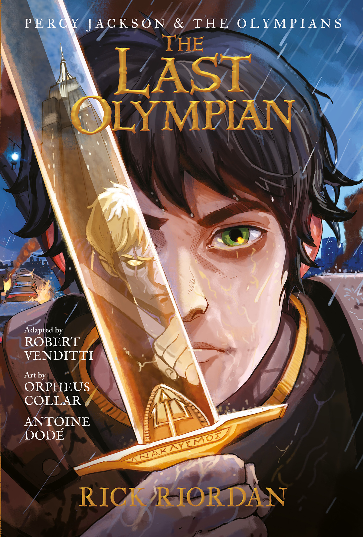 Image result for the last olympian graphic novel book cover