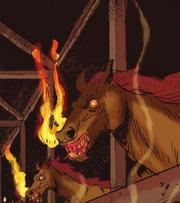 Fire breathing horse