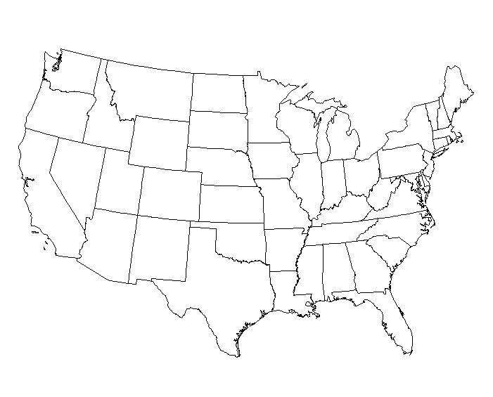 Blank Western Us Map Santosaco - United states map with labels