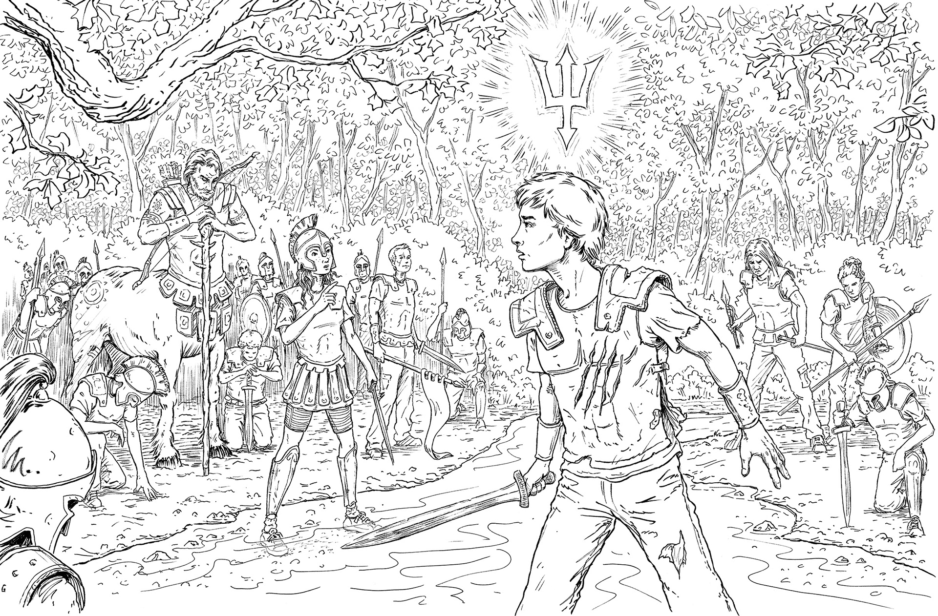 Poseidon Percy Jackson Coloring Pages - Worksheet & Coloring Pages