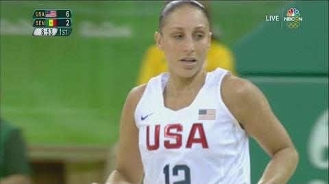 U.S. women set team Olympic record, blow out Senegal, 121-56