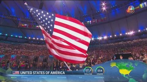 Team U.S.A. enters Opening Ceremony to roaring cheers