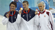Michael Phelps Ryan Lochte Laszlo Cseh medals 2008 Olympics