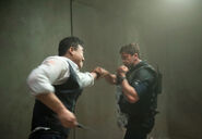 OHF- Steve Kim doubling as Rick Yune in the fight with Gerard Butler