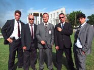 OHF- Steve Kim with Secret Service stuntmen