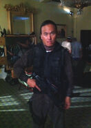 OHF- Steve Kim as one of the Korean commandos on-set
