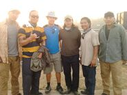 OHF- BTS pic with Peter Jae, Steve Kim, Jason Yee, Ho-Sung Pak, Philip Tan & unknown