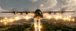 Lockheed Gunship firing it's flares