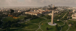 Washington Monument attacked
