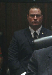 OHF- SS agent guarding Speaker of the House (played by extra Michael Byrnes)