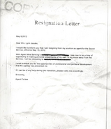 OHF- Agent Forbes Resignation Letter