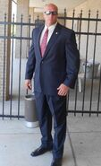 OHF- 'Big' Jack Little on the set of OHF in 2012 as a SS agent