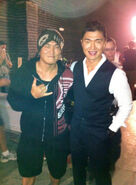 OHF- Steve Kim on-set with Rick Yune